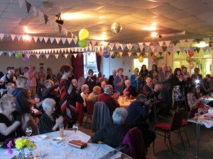 Family & Friends celebrate Mrs King's birthday at her party in Necton Community Centre.