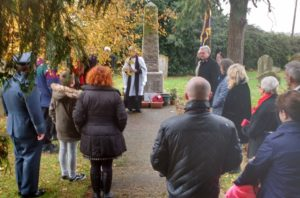 A small congregation at Necton Memorial